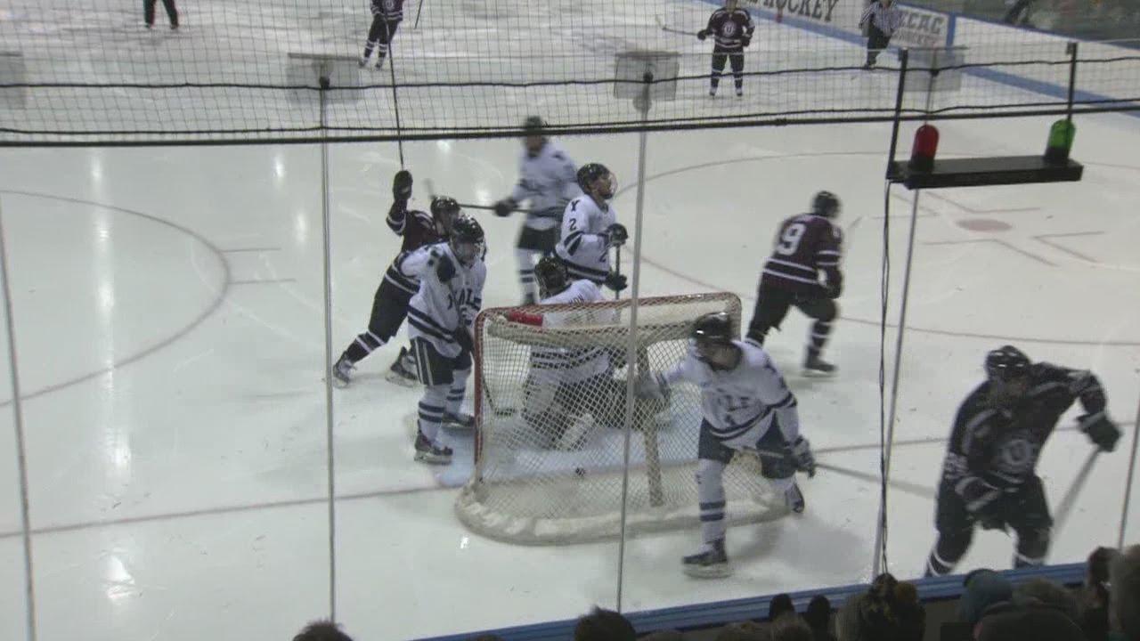 Union defeats Yale men's hockey 2-0 - YouTube