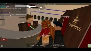 Roblox Emirates Airlines flight| Boeing 777