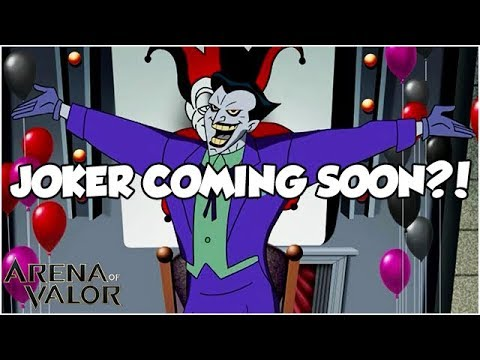 joker coming soon arena of valor youtube. Black Bedroom Furniture Sets. Home Design Ideas