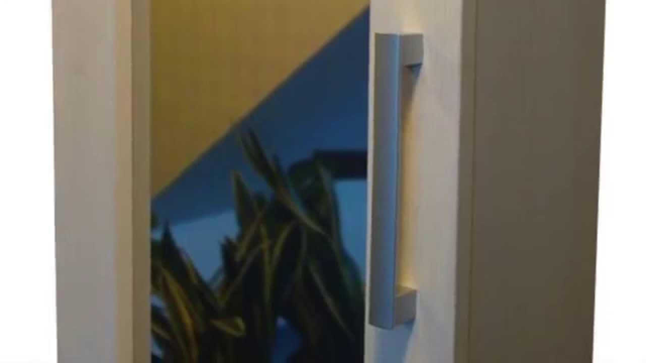 verspiegelt schaltbare glastüren in küchen-schränke - schaltbares