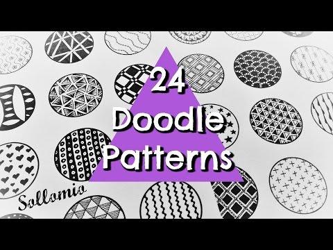 24 BEAUTIFUL DOODLE PATTERNS | ZENTANGLE | SOLLOMIO