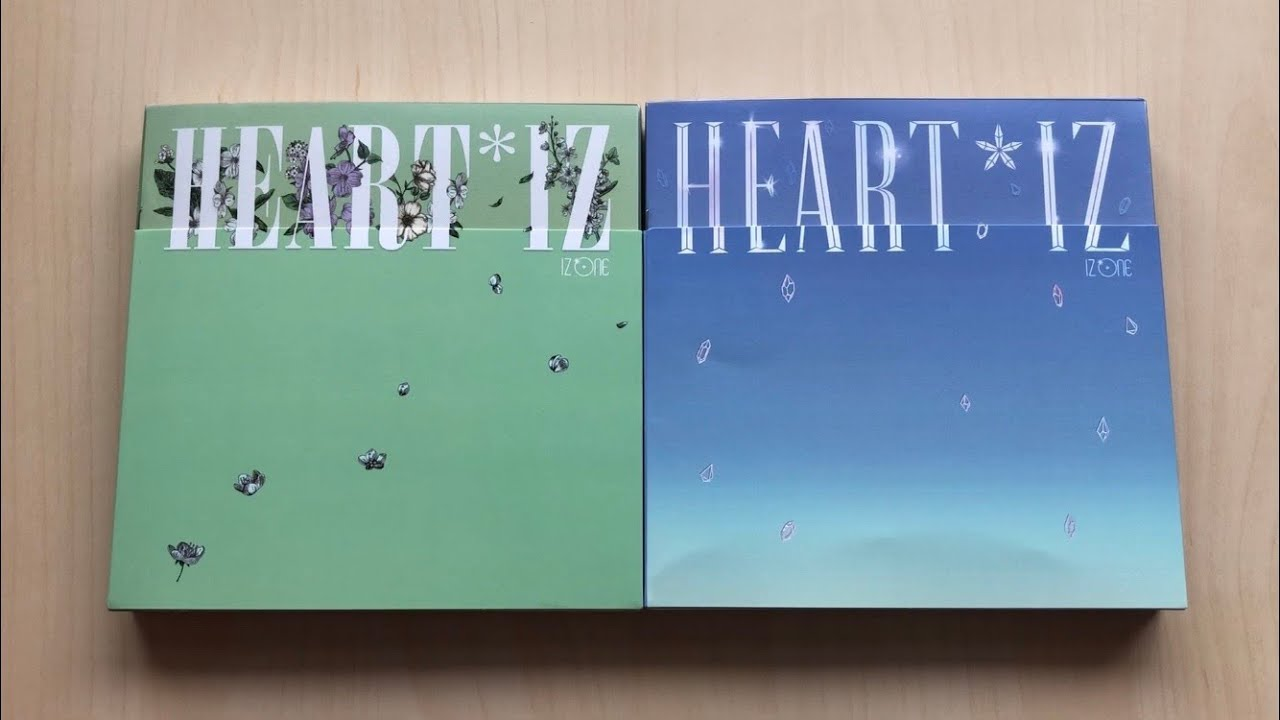 ♡Unboxing IZ*ONE 아이즈원 2nd Mini Album HEART*IZ (Violeta & Sapphire Ver )♡