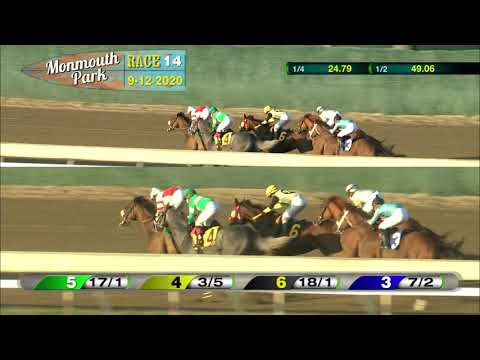 video thumbnail for MONMOUTH PARK 09-12-20 RACE 14