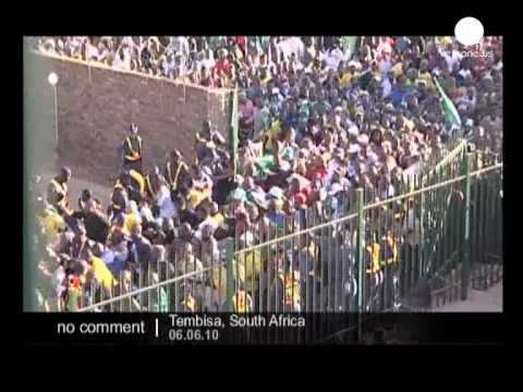 Stampede outside Makhulong Stadium in South Africa - no comment