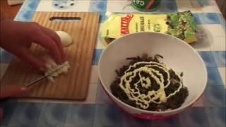 Салат с морской капустой и крабовыми палочками + 500 ПОДПИСЧИКОВ!!!УРА!!!