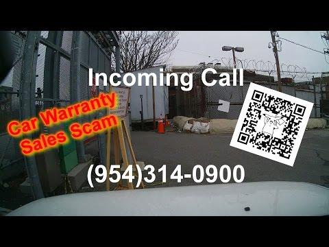 Car Warranty Sales Call Scam (dash Cam Video....sortof)