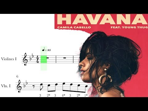 HAVANA - CAMILA CABELLO - violin score - partitura para violín 🎻.