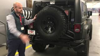 aev rear bumper and tire carrier overview