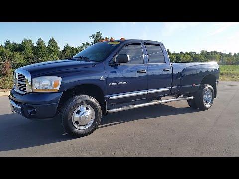 sold.2006 DODGE RAM 3500 LARAMIE 4X4 DRW QUAD CAB 5.9L H.0. CUMMINGS 83K FOR SALE CALL 855-507-8520