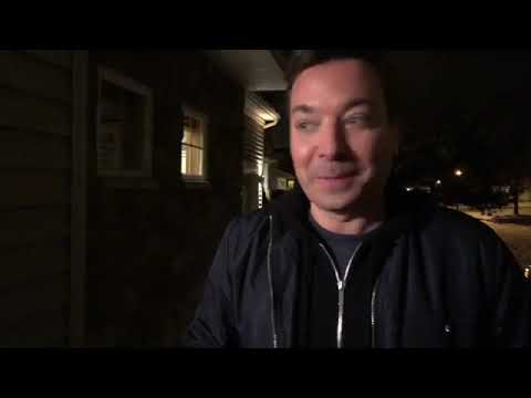 Jimmy fallon visiting a family in Minnesota for a home cook meal
