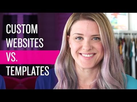 Custom Website Design Vs Templates - When to hire a website designer / web developer