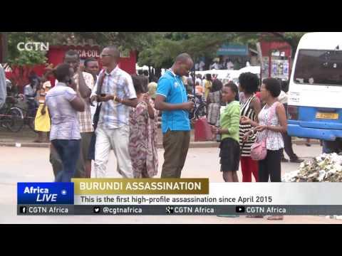 Burundi's environment minister shot dead in the capital Bujumbura