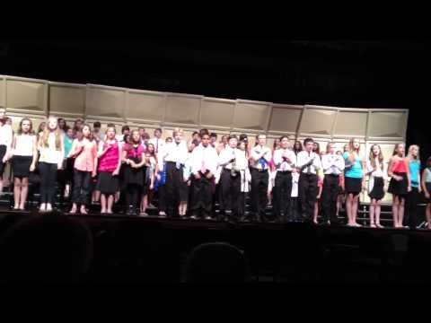 Readington Middle School Spring Chorus Concert 2013 - Cover The World With Love