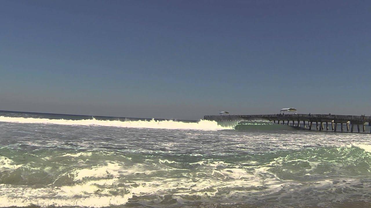 Lake Worth Beach Florida Wave Day