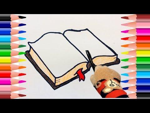 Como dibujar un libro | como dibujar un libro abierto