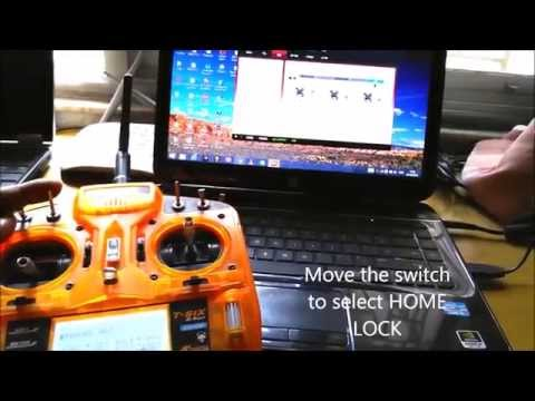 Set up Naza M with Orange T-six 6 channel radio for all modes