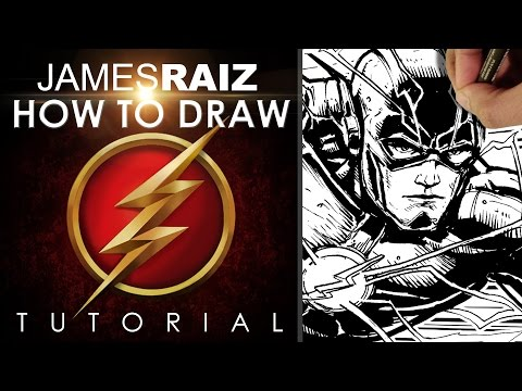 HOW TO DRAW THE FLASH TUTORIAL!