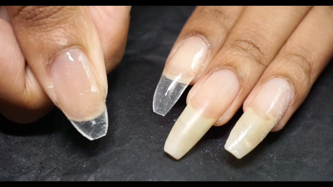 First Try with Silk Wraps on Natural and Fake Nails 😼 - YouTube