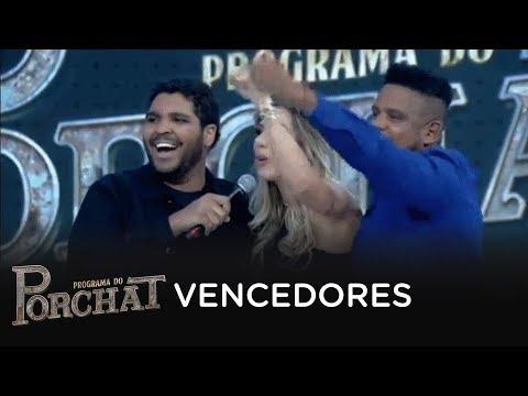 Paulo Vieira conversa com Tati Minerato e Marcelo, vencedores do Power Couple