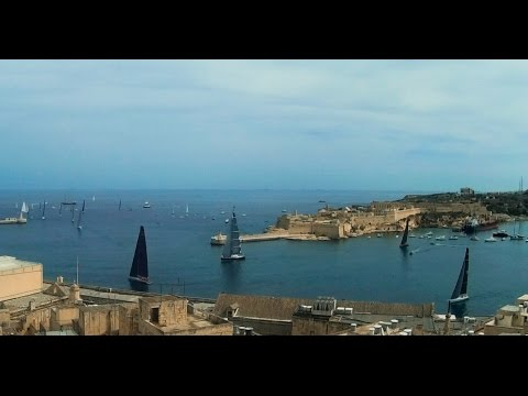 Rolex Middle Sea Race 2015 - Yachts Leaving Valletta Grand H