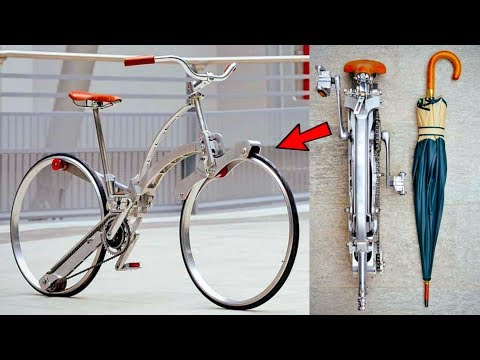 5 FOLDING BICYCLE INVENTION ▶ Can Fold Like a Umbrella