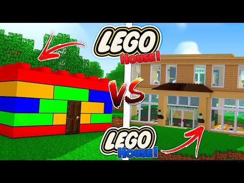 Minecraft  LEGO HOUSE vs LEGO HOUSE!!