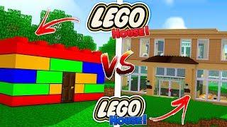 Minecraft - LEGO HOUSE vs LEGO HOUSE!!
