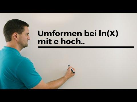 Umformen bei ln(x) mit e hoch.., Logarithmusgleichung lösen   Mathe by Daniel Jung