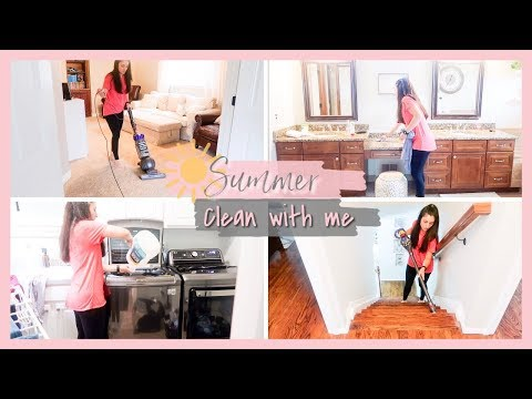 SUMMER CLEAN WITH ME 2019 | RELAXING SPEED CLEAN | CLEANING MOTIVATION