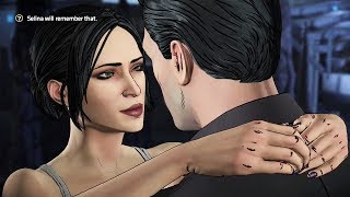 batman and catwoman all romance scenes batman telltale season 2 episode 3 bruce selina scenes