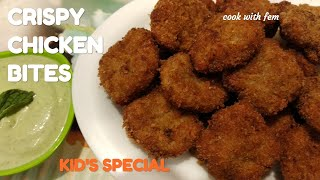 Crispy Chicken Bites With Creamy Dip - Children