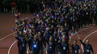 Parade of nations and athletes in the 2019 SEA Games closing