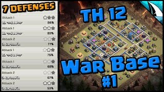 AMAZING TH 12 War Base Not Tripled | 7 REPLAYS | With 3 Infernos | Clash of Clans