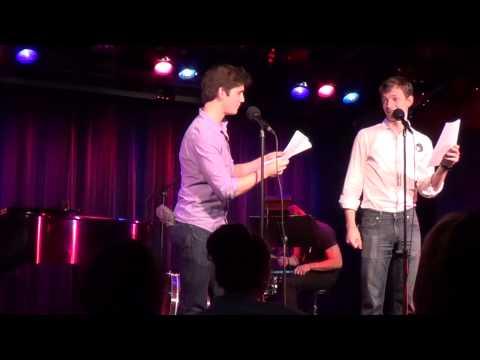Adam Kaplan and Mike Faist performing
