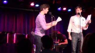 Adam Kaplan and Mike Faist performing
