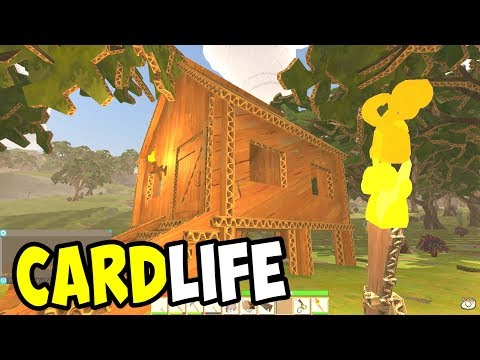 BUILDING a COZY COTTAGE and MINING for ORE - CardLife Gamepl