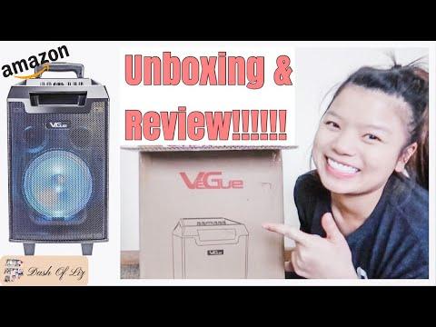 I GOT A KARAOKE MACHINE!!! |VEGUE KARAOKE SPEAKER | Unboxing & Review | The Best Bluetooth Speaker