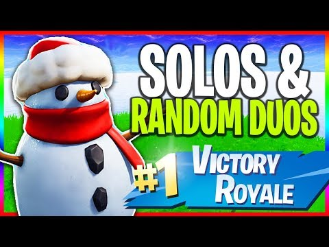 🔴 Solos & Random Duos // 1000+ Wins // NEW Skins (Fortnite LIVE Gameplay)