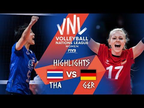 THA vs. GER - Highlights Week 4 | Women's VNL 2021