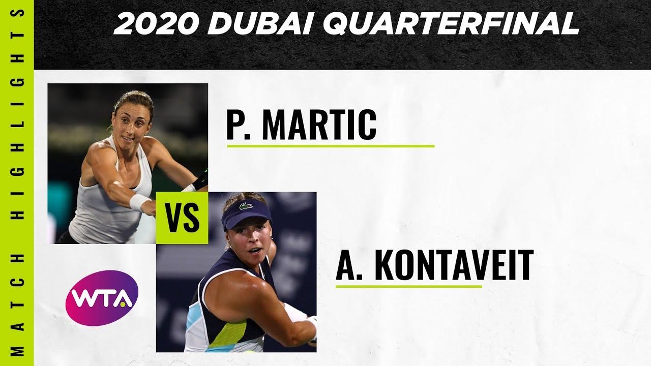 Petra Martic vs. Anett Kontaveit | 2020 Dubai Quarterfinal | WTA Highlights