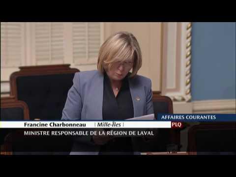 Francine Charbonneau - Déclaration de députée sur le 30e anniversaire de l'école alternative L'Envol