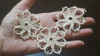Çeyizlik Tığ işi Dantel Motifi Yapımı \u0026 Crochet