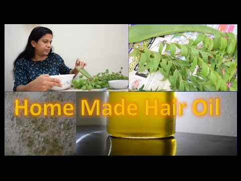 Home Made Hair Oil for hair loss and dandruff