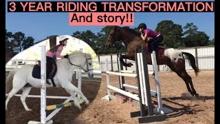 DRASTIC 3 YEAR RIDING TRANSFORMATION!! :o
