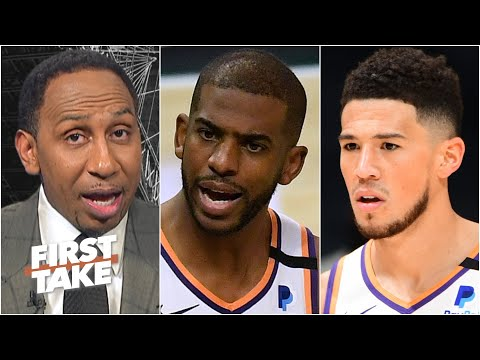 Stephen A. pumps the brakes on the Suns' title chances | First Take
