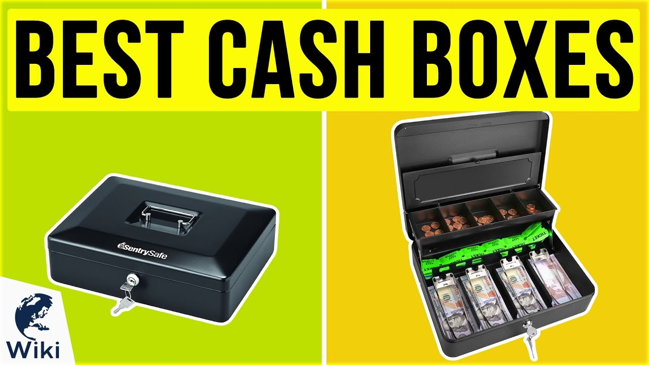 Robust steel-construction cash box Blue 10 Inch
