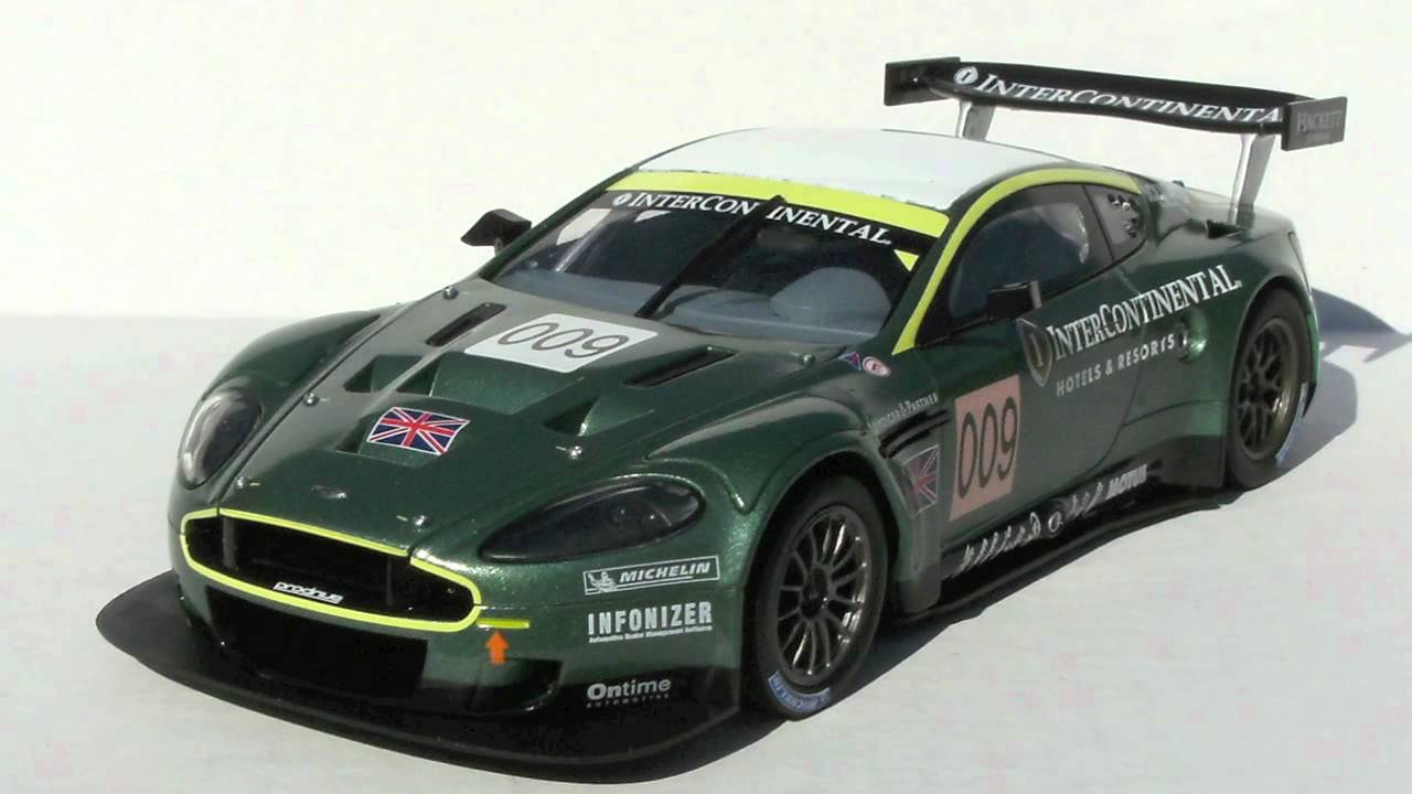 review 1 24 aston martin dbr9 by carrera youtube. Black Bedroom Furniture Sets. Home Design Ideas