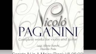 Paganini  - Complete works for violin and guitar CD 1-9
