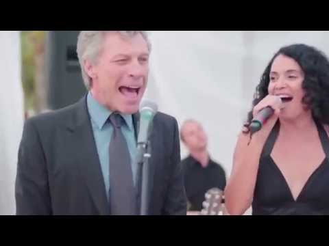 Jon Bon Jovi Sings at a Wedding with Lourdes Valentin