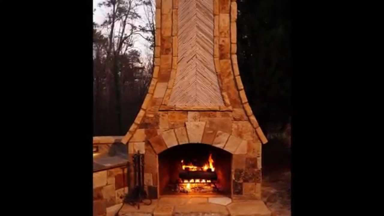 time lapse outdoor fireplace kitchen pizza oven part i youtube
